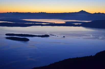View from Mt. Constitution, Orcas Island
